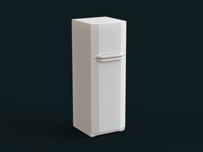 1:39 Scale Model - Refrigerator 03 in White Strong & Flexible