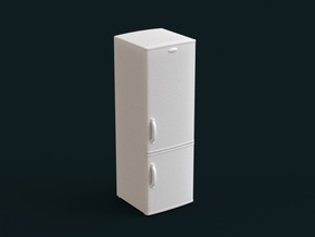 1:39 Scale Model - Refrigerator 02 in White Natural Versatile Plastic