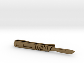 Scalpel Tie Bar (Metals) in Natural Bronze