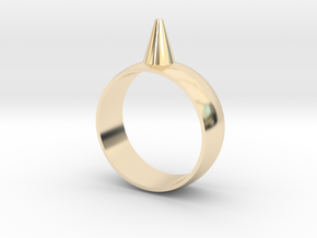 9.5 223-Designs Bullet Button Ring Size  in 14K Yellow Gold
