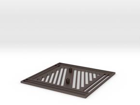Pi Plate V2.0 in Polished Bronzed Silver Steel