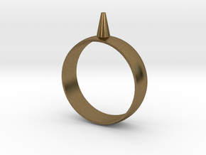 223-Designs Bullet Button Ring Size 15.5 in Natural Bronze