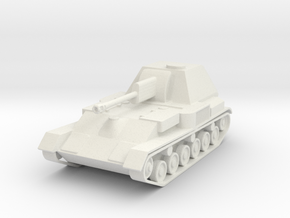 SU-76 Soviet SPG 1/87 (HO) scale in White Natural Versatile Plastic