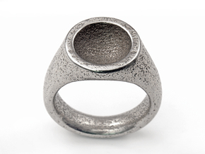 Grail Ring in Polished Bronzed Silver Steel