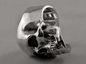 =Epic= Skull Ring - Size 12 in Polished Silver
