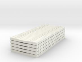 Concrete Tie Load - HOscale in White Natural Versatile Plastic