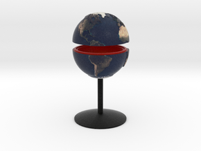 Tactile Miniature Earth With Stand in Full Color Sandstone