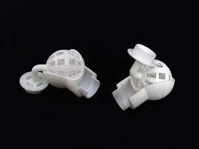 Shoulder Ball Joint for 1/2 Inch PVC Pipe in White Natural Versatile Plastic