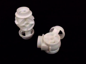 Knee Joint for 3/4 PVC Pipe in White Natural Versatile Plastic