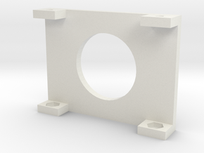 "20x4 LCD Mounting Bracket 2"" in White Natural Versatile Plastic"