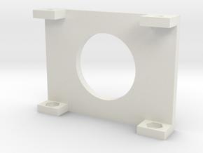 "20x4 LCD Mounting Bracket 2"" in White Natural Versatile Plastic"