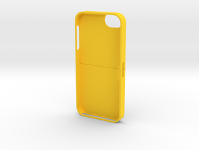 iPhone5 3D Cover in Yellow Processed Versatile Plastic