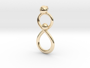 Infinite Mother And Child Pendant in 14K Yellow Gold