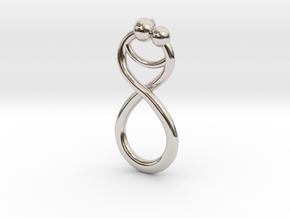 Infinite Embrace Pendant in Platinum