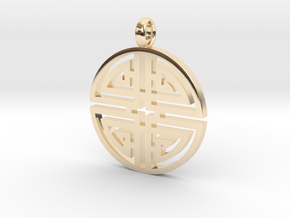 Longevity Pendant in 14K Yellow Gold