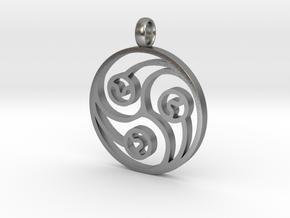 Trinity Pendant in Natural Silver