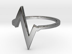 Heartbeat Ring Size 7 in Polished Silver