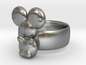 Koala ring in Natural Silver