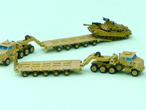 HETS M1070 / M1000 Truck and Trailer 1/285 6mm in Smooth Fine Detail Plastic