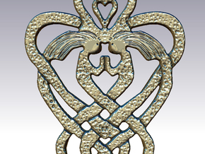 Celtic Sisters Knot in Polished Silver