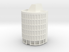 Rounded Office Building in White Natural Versatile Plastic