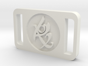 TMI Fearless Rune Buckle in White Natural Versatile Plastic
