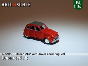 Citroën 2CV - cornering (N 1:160) in Smooth Fine Detail Plastic