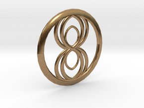 Infinity Spider Pendant in Natural Brass
