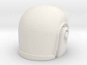 3D Printed Daft Punk Helmet in White Natural Versatile Plastic
