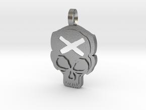 Skull in Natural Silver