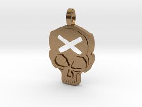 Skull in Natural Brass