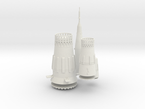 1/400 N-1 SOVIET MOON ROCKET (DETAIL MAT'LS) in White Natural Versatile Plastic