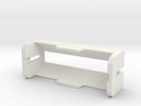 26650 Battery Holder V2 in White Natural Versatile Plastic