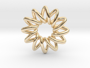 Basic 12-point Knot in 14K Yellow Gold