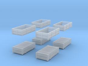 Container Pair in Smooth Fine Detail Plastic