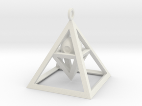 Sight of Pyramid Pendant in White Natural Versatile Plastic