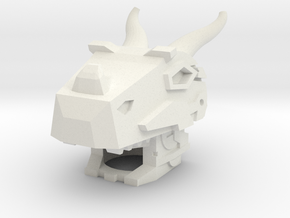 Robohelmet: Grimace in White Natural Versatile Plastic