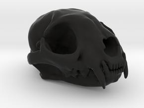 Cat skull - 45 mm in Black Strong & Flexible