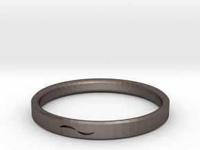 Bracelet with Asymmetrical Design in Polished Bronzed Silver Steel