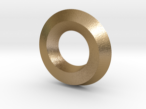 Mini (5,1) Mobius Spiral in Polished Gold Steel