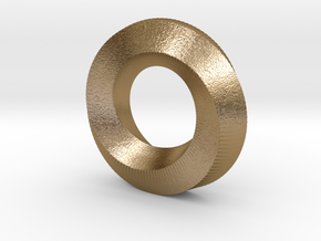 Mini (5,2) Mobius Spiral in Polished Gold Steel