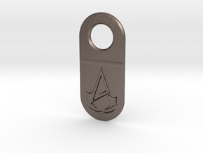 Assassin Unity Keychain Pendant in Polished Bronzed Silver Steel