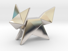 Origami Fox in Platinum