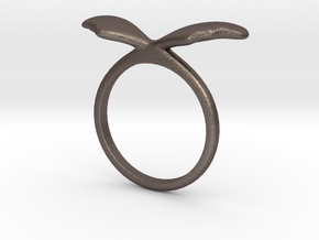Ring Wing Size US 7 (17.3mm) in Polished Bronzed Silver Steel