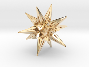 Stellated Icos in 14K Yellow Gold