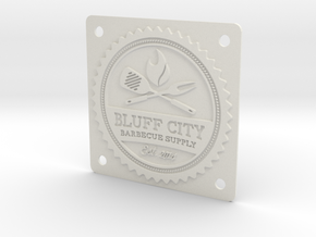 Bluff City Badge in White Strong & Flexible