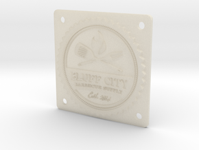 "Bluff City 2"" Badge in White Acrylic"