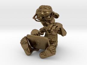 Brainz the Techno Zombie in Natural Bronze
