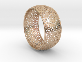 7cm Bracelet Flower Pattern Curved in 14k Rose Gold