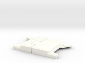 "Captain America WS Belt Buckle V2 (2 1/2"" Wide) in White Processed Versatile Plastic"